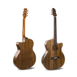 Ovazione all'ingrosso strumenti musicali semi acustici della chitarra elettrica dello spaccato da 40 pollici