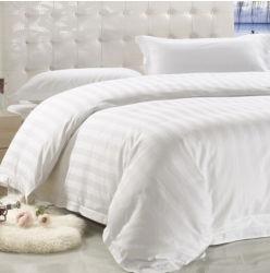 3cm 줄무늬 100%년 면 백색 호텔 침구 세트