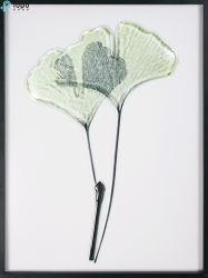 Pittura di vetro semplice di disegno di pianta per la decorazione dell'interno (MR-YB6-2057B)