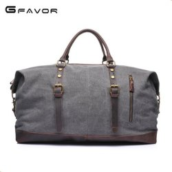 빈티지 캔버스 핸드백 야외 주말 방수 더플 여행용 가방