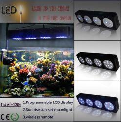 GS Znet4 120W LED Aquarium Light Saltwater Aquarium Fish Tank Programmable時間Marine Coral Reef Grow Light