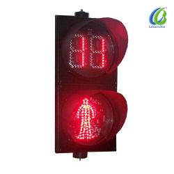 إشارة مرور LED عالية الجودة لأمان عبور المشاة بطول 200 مم خفيف
