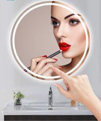 Aangepaste Factory Direct Sale ronde Smart Bathroom Mirror Top Sale Nieuwe Design ronde hangende muurspiegel voor de badkamer