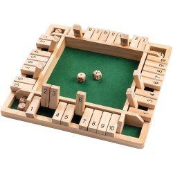 Kundenspezifische hölzerne Brettspiele 4 Spieler schlossen die Kasten-Form-Spiel-gesetzten Spielwaren für Kinder und Erwachsene
