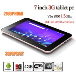 3G TabletのパソコンAndroid 4.0 1.5GHz 1gram 16GB GPS (S10C)