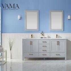 Vama 72 بوصة جاهزة، حمام خشبي صلب حديث أثاث الحمام 785072