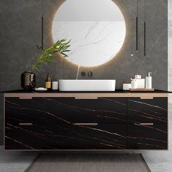 Gloden cozinha preta Tabela de banho ampla aplicação Food-Safe sinterizado sólido quadro de Pedra