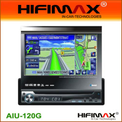 7''Un-DIN DVD coche W / panel desmontable,bluetooth,iPod,RDS TMC,GPS+DVB-T opcional
