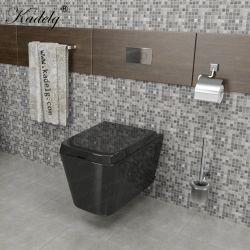 حمام حديث مرخص من قبل CE ذو جدار بدون إطار Hung أحادية القطعة متعددة الألوان مرحاض من السيراميك