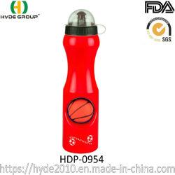 Basketbalvoetbal, Plastic Sportfles Met Deksel (Hdp-0954)