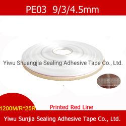 Personnaliser la bande, bande imprimée, bande adhésive de scellage refermables, Polybag bande adhésive de scellage, sac bande adhésive de scellage avec certificat SGS (PE03)