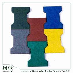Verrouillage antiglisse personnalisée en usine à l'extérieur les carreaux de revêtement de sol en caoutchouc de l'os pavés de la passerelle/Park /Yard plancher/Jardin/Aire de jeux