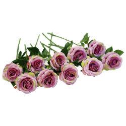 Látex verdadero toque de rosa de plástico de Flores Artificiales Flores artificiales decorativas flores rosa de seda para el hogar y decoración de boda parte