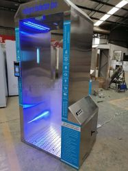 Porte de désinfection Intelligent Mobile pour l'Hôtel/Restaurant/l'école