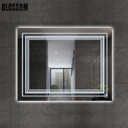 호텔 목욕탕 빛을%s 가진 허영에 의하여 조명되는 지능적인 목욕 미러 LED