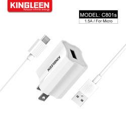 Комплект зарядки USB 1,5 А с настенное зарядное устройство и 3фт кабель USB для Samsung HTC Xiaomi Huawei