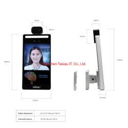 A IDC7708t 8 Polegada construído em 4G WiFi Blue tooth Face do Módulo de máquina de reconhecimento de alta sensibilidade duas câmaras sem contato precisas da temperatura corporal Measuring Module