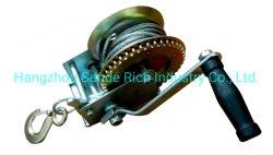 1200 фунтов/550кг руководства для тяжелого режима работы стороны лебедки, рукоятки для ручного ремешка шестерни с помощью лебедки 4,5мм*8м, 7*19 стальной трос для ATV автомобилей на лодке прицепа