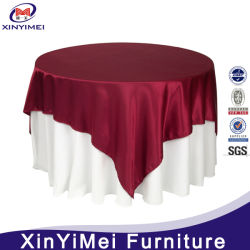 Hot Sale 100 % polyester Nappe ronde mariage chiffon Table capot table