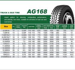 Ogreen O'green heller LKW-radialreifen 7.50r16 750r16 14/16pr der Marken-TBR aller Positions-/off-Straßen-Gummireifen mit Gefäß und Abdeckstreifen