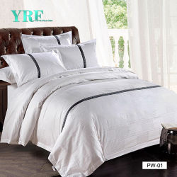 Yrf Star Hotel Dobby Pillow Case Flat Sheet Duvet Cover Bed Linnen