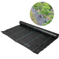 Schwarzes und Silber-landwirtschaftliches Plastikpolyäthylen-Laubdecke-Blatt, Weed-Steuerbodendeckel