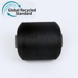 Fabricant Prix 100D PET polyester recyclé Certificat grs fils TC pour l'étiquette tissée
