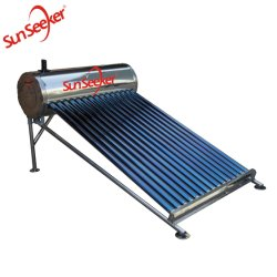 Novo design do aquecedor solar de água com estrutura redonda