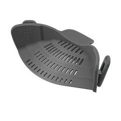 El tamiz de silicona Snap encajar Pot alimentos tamiz para sartenes