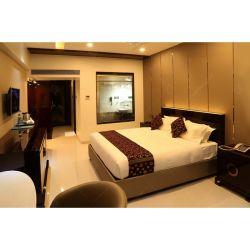 Foshan folheado de madeira compensada com mobiliário contemporâneo Hotel quarto conjunto de móveis