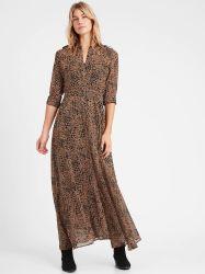 سعر الجملة ماكس شيفن اللباس جوري قماش الكحولي الكلاسيكية ثوب اللياقة وFlare Style الساخن