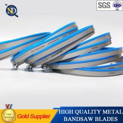 M42 Bi-Metal Hoja de sierra de la banda de corte de tubo de acero