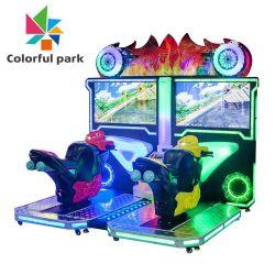 Venta de motos simulador de conducción en el interior de la zona de juegos con monedas Pusher/coche de carreras/Ticket al por mayor/CÁMARA/Video/Electrónica/diversión arcade juego//Máquina