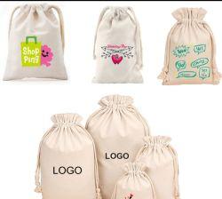 2018 Custom использовать хлопок Canvas String хлеб магазины подарков мешок