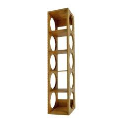 Apilable de bambú 5 estante de vino botella