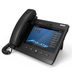 Telefono astuto del IP del video dello schermo di tocco di colore di VoIP 7 della fabbrica ''