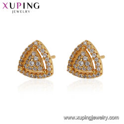 Gold 24K Conception Triangle Earring