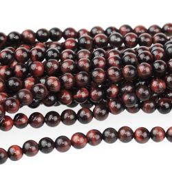 Natürliche rote Tiger-Augen-Stein-Raupen für die Form-Schmucksache-Schmucksachen, die alle Größe Available6mm bilden