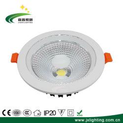 С регулируемой яркостью в коммерческих целях 4 дюйма 12Вт Светодиодные набегающей початков вниз свет лампы утопленной лампы верхнего предела для использования внутри помещений светодиодного освещения