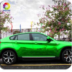 ملصق سيارة الكروم من الكروم تسوتوب دحرجة غشاء اللوحة الكهربائية الخضراء