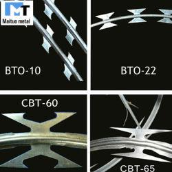 Предельно провод/оцинкованных материалов с покрытием из ПВХ очень колючей проволоки или предельно провод ВТР-22/Cbt-60 Cbt-65 заводской марки при послепродажном обслуживании