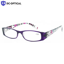 China Wenzhou ce de la moda de la fábrica de plástico de la FDA coloridas señoras gafas de lectura