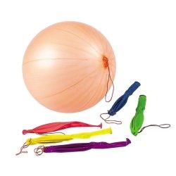"""Les billes de perforation au néon Fun-Filled ballons avec bande caoutchouc de la poignée (12 Pièce 18"""") -Couleurs assorties"""