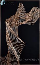 Peint main décoratifs Art peinture sur verre pour un canapé-décoration murale (MR-YB6-2048A)
