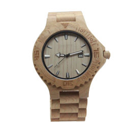 남자가 손에 의하여 했다 건강한 자연적인 목제 시계 여자에게 손목 선물 (JY-M001)를 위한 나무로 되는 시계