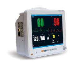 Elevadores eléctricos de ECG, 2-Temp, PANI, SpO2, Resp, Pr/Hr Monitor de Paciente