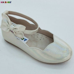 Fashion Babi Girl Black広州の子供の靴の王女PUの革靴
