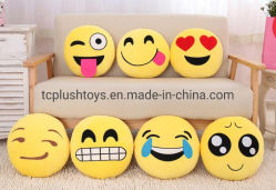 Fabrik-Preis 12.7 Zollförderndes preiswertes angefülltes Emoticon weiches Emoji Kissen-populäres angefülltes Plüsch-Kissen