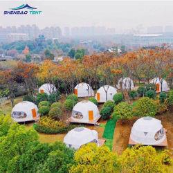 Le luxe Outdoor 4m 6m Resort Glamping tente dôme géodésique