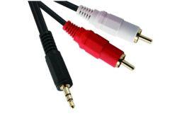 Вспомогательный разъем для мужчин 3,5 на 2 штырьковой части разъема RCA стерео аудио кабель